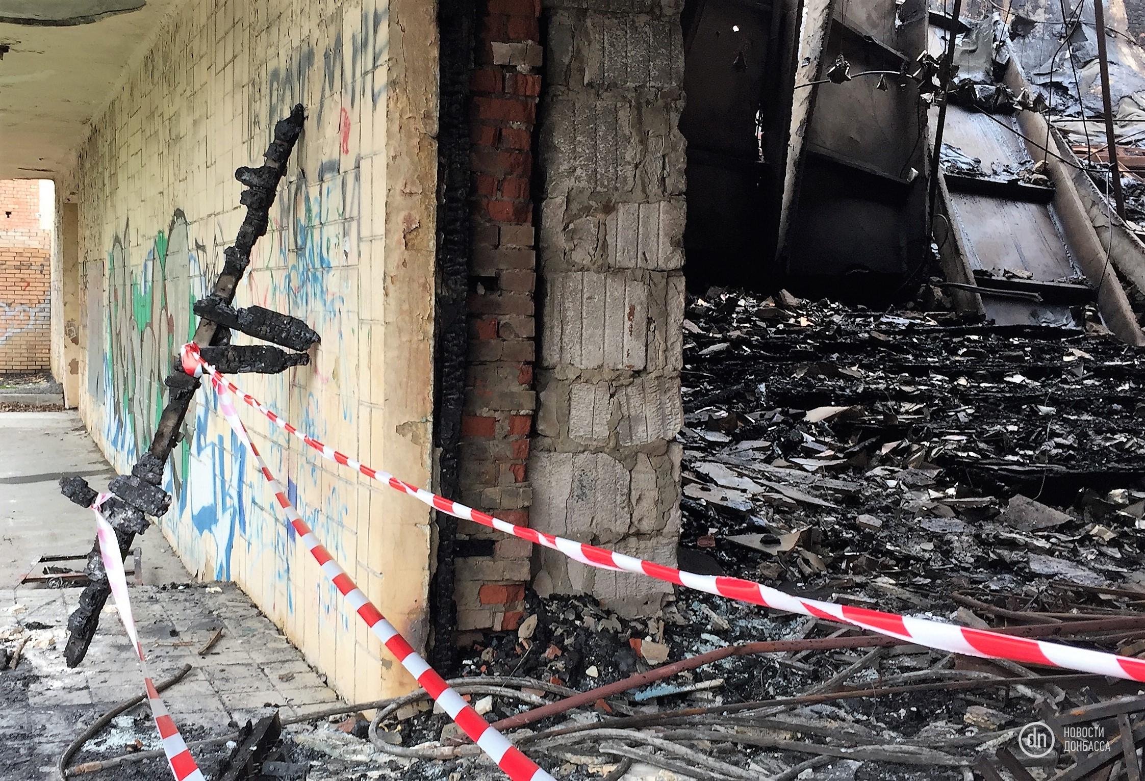 В Донецке сгорел кинотеатр, есть погибший