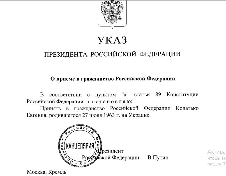 Украинский социолог Копатько получил русский паспорт