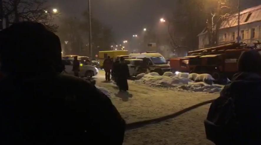 Пожар вмногоэтажном здании  Киево-Печерской Лавры ликвидирован