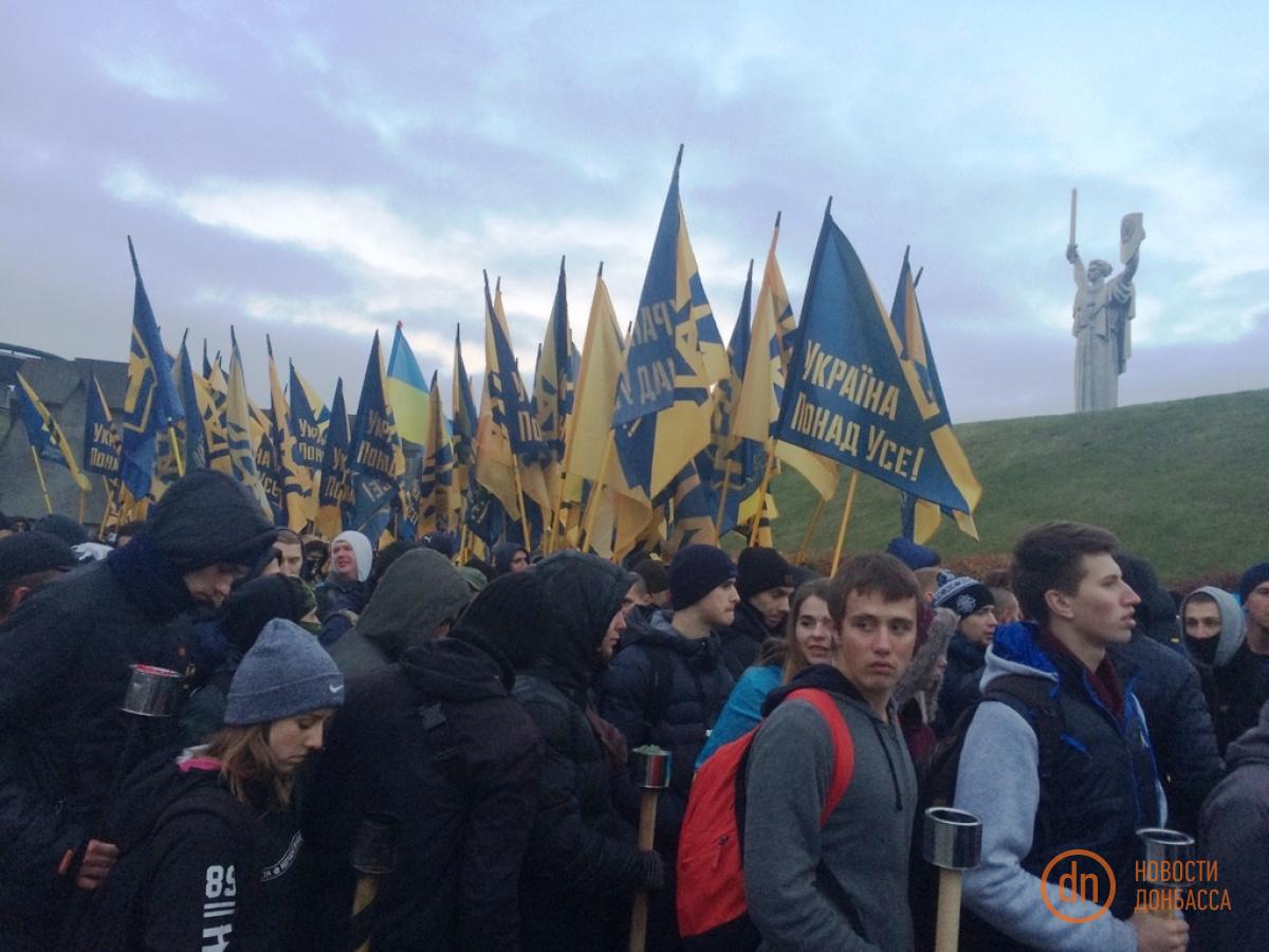 ВКиеве начался Марш Нации: первые фото ионлайн-трансляция