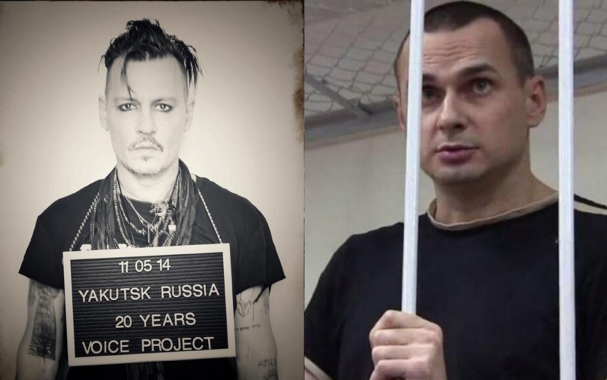 Джонни Депп призвал освободить Олега Сенцова впроекте «Заключенные заискусство»