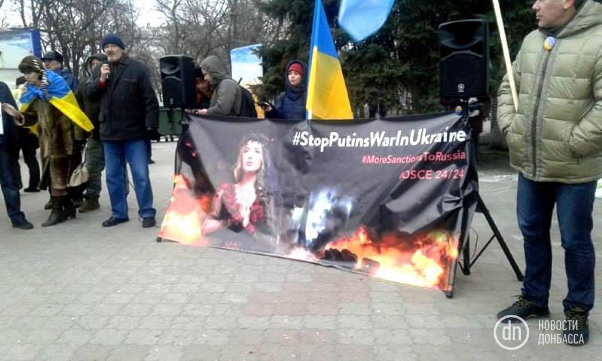 В РФ состоялась акция против агрессии В. Путина вУкраинском государстве
