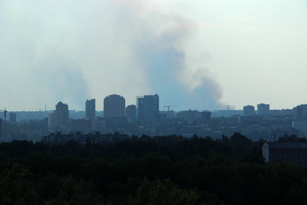 ВДонецке произошел пожар нахимзаводе