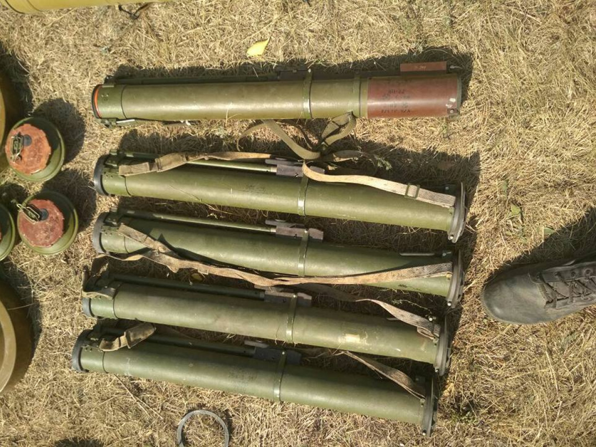 Вдоме наДонетчине обнаружили российское оружие