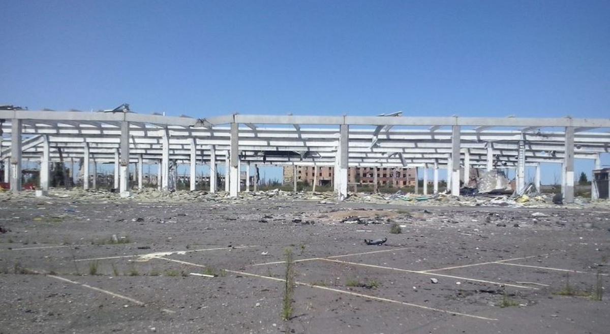 ВДонецке показали, что осталось отгипермаркета Metro