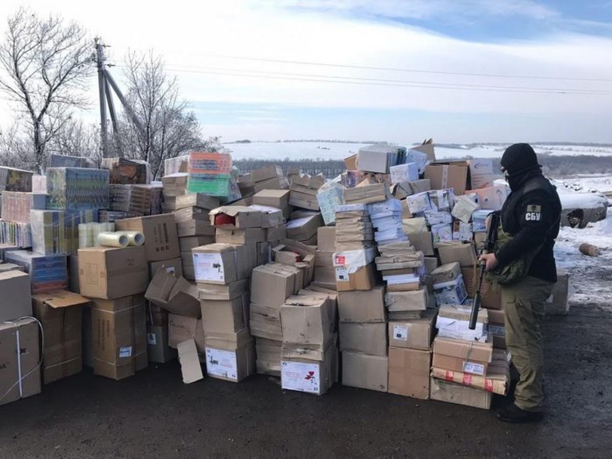 НаДонбассе в«серой зоне» обнаружили склады сконтрафактными сигаретами
