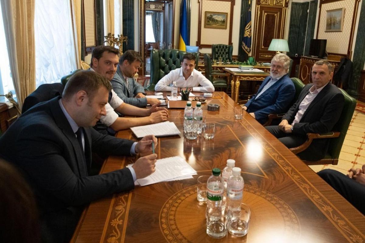 Зеленский на Банковой встретился с Коломойским: фото